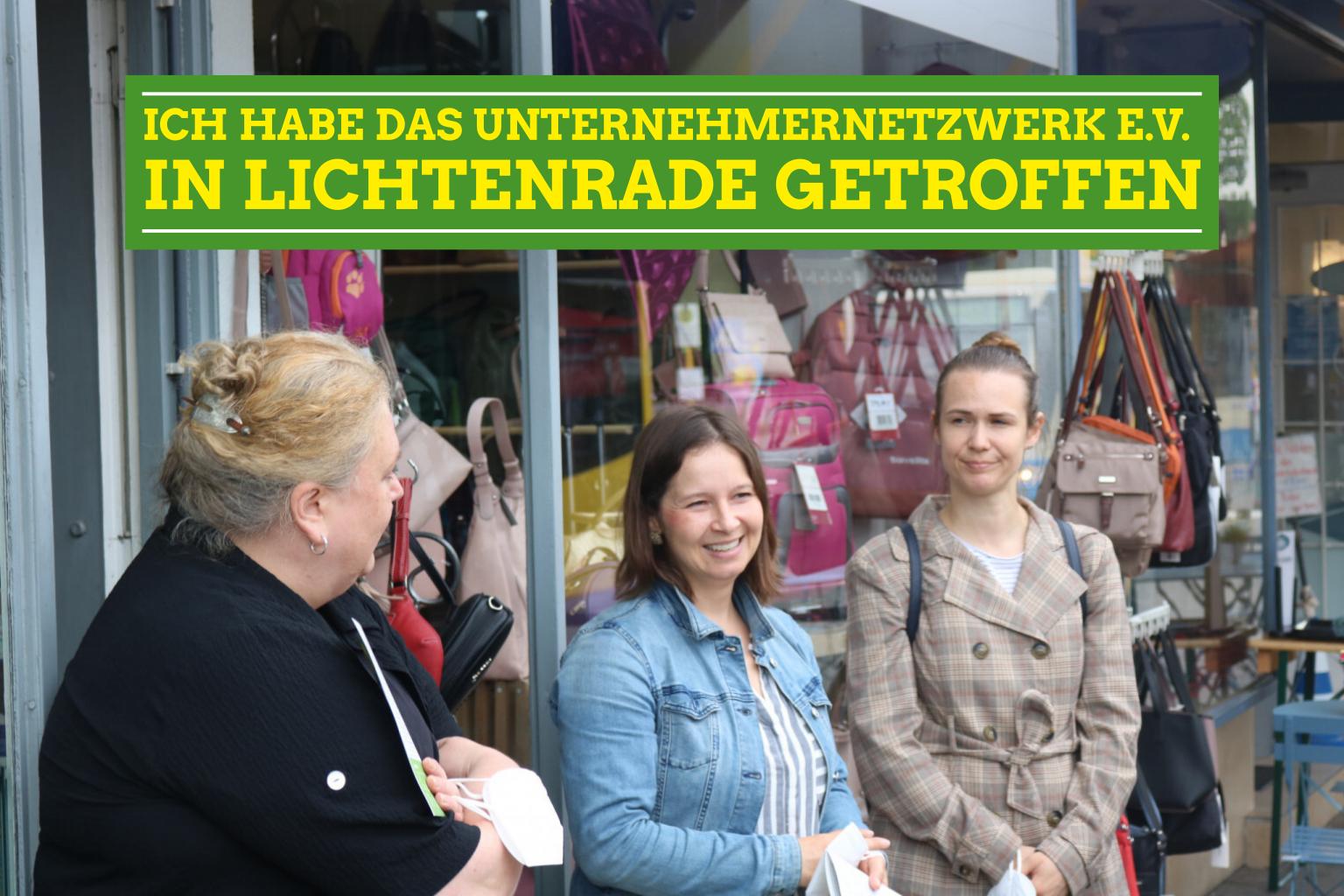 Kieztag in Lichtenrade mit dem Unternehmer-Netzwerk e.V. und Renate Künast