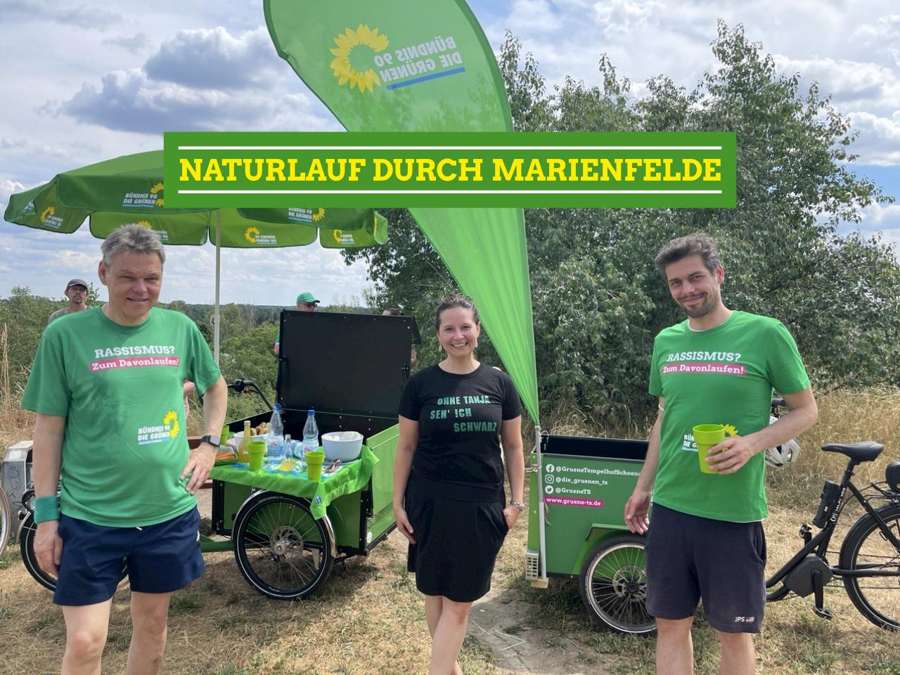 Naturlauf durch den Freizeitpark Marienfelde  mit Jörn Oltmann und Friedemann Dau